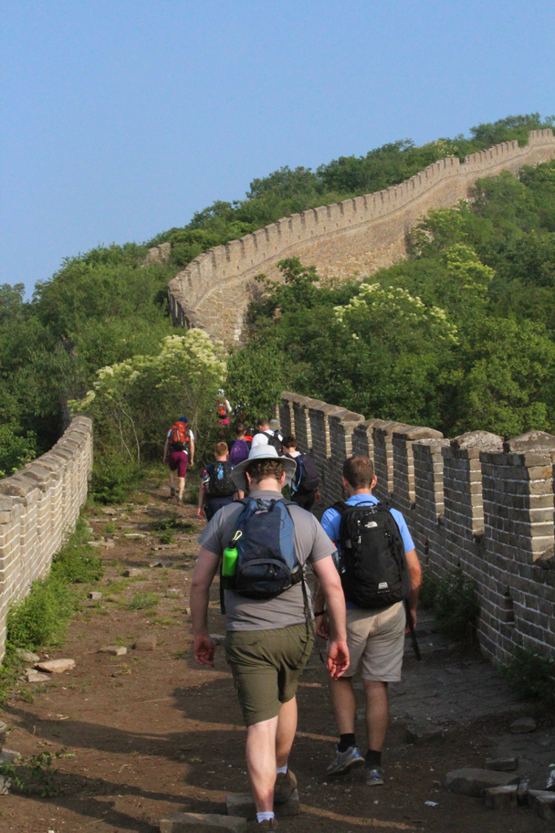 Setting off on the second day - Great Wall Spur Camping, 2015/05