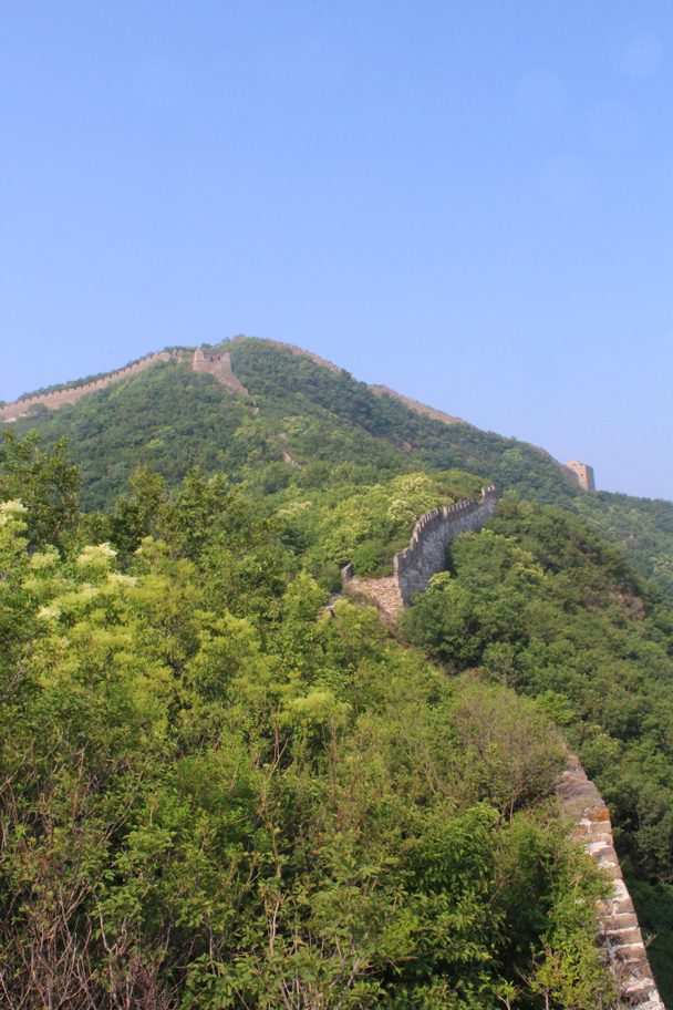 Looking back along the trail - Great Wall Spur Camping, 2015/05