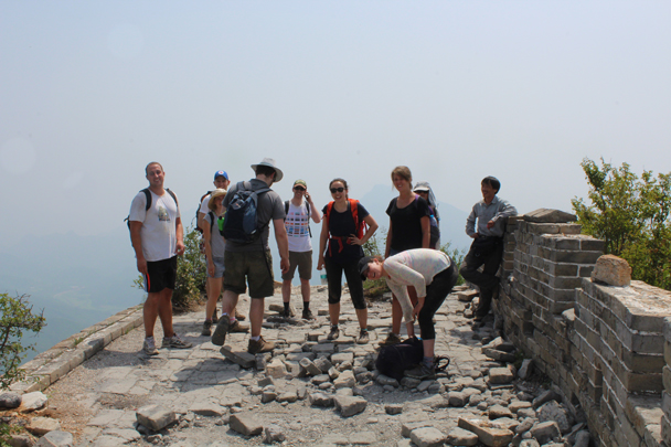On top of the 'Chinese Knot' at the Jiankou great wall, at just over 1,000m high - Great Wall Spur Camping, 2015/05