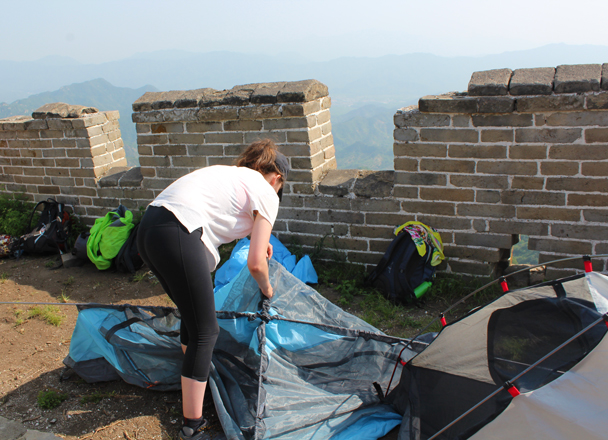 Almost done - Great Wall Spur Camping, 2015/05