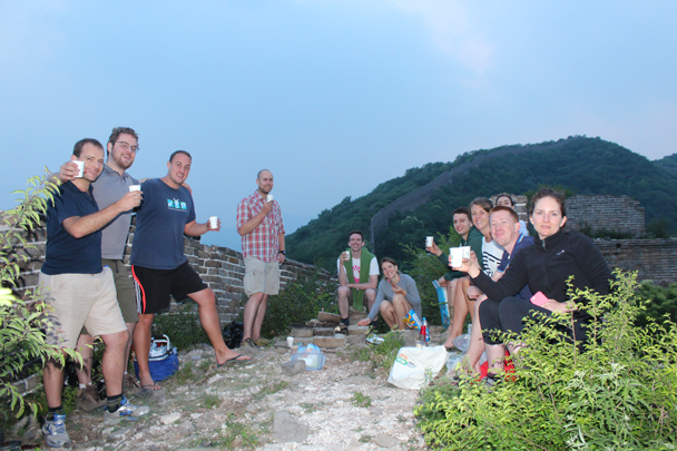A toast to the trip - Great Wall Spur Camping, 2015/05