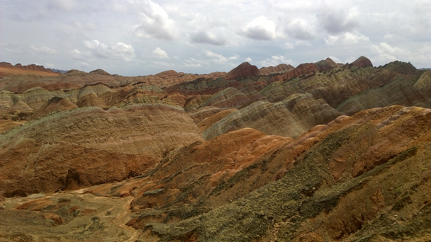 A view from inside the geopark - Zhangye Danxia Landform and Jiayuguan Fortress, 2015/05