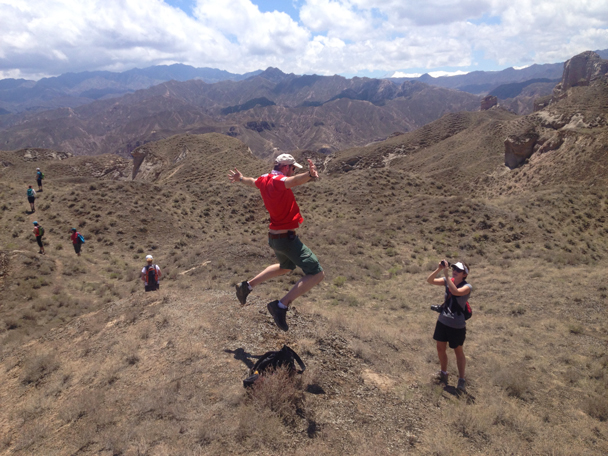 Jump! - Zhangye Danxia Landform and Jiayuguan Fortress, 2015/05