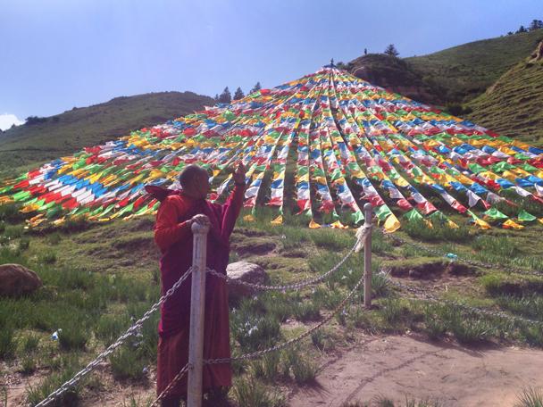 A Tibetan monk - Zhangye Danxia Landform and Jiayuguan Fortress, 2015/05