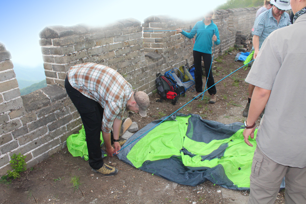 Time to set up the tents - Great Wall Spur Camping trip, May 2015
