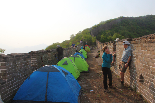 As the evening closed in everybody shared a few stories - Great Wall Spur Camping trip, May 2015