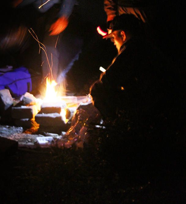A camp fire cooked meal finished off the night - Great Wall Spur Camping trip, May 2015