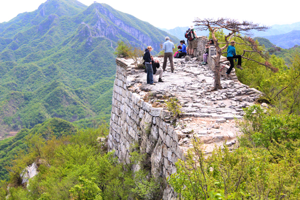 "The lookout point at the ""Chinese Knot"", where three lines of wall meet up - Great Wall Spur Camping trip, May 2015"