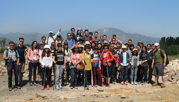 The team from ThyssenKrupp assembled and ready to start the hike - Hike and teambuilding for ThyssenKrupp, 2015/05