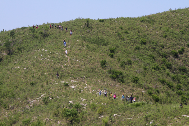 These trails through the hills are mostly used by local shepherds - Hike and teambuilding for ThyssenKrupp, 2015/05