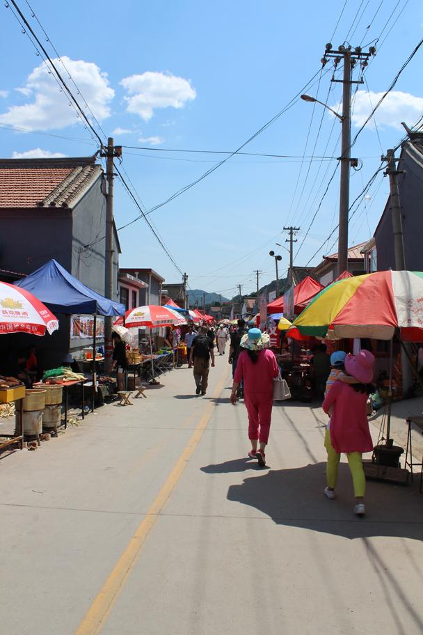 Streetside stalls - Yajishan Temple Fair, 2015/05/20