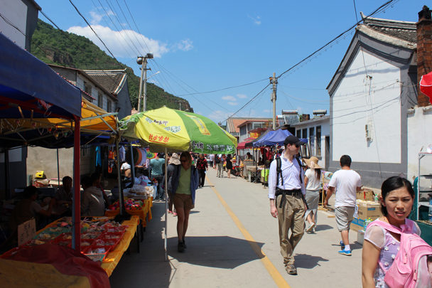 We walked through the back of the village to get to the main area of the fair - Yajishan Temple Fair, 2015/05/20