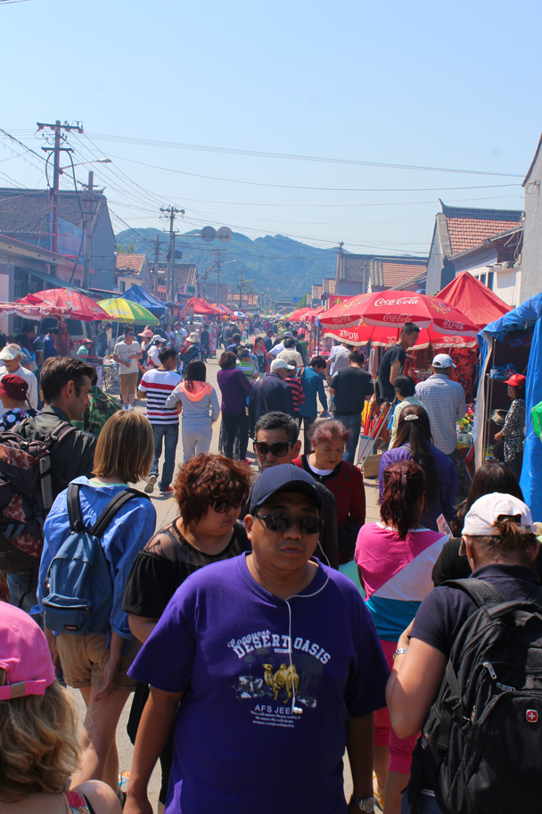 Crowds at the fair - Yajishan Temple Fair, 2015/05/20