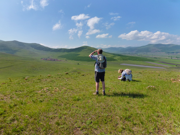 Enjoying the wild flowers and the great clouds - Bashang Grasslands, Hebei Province, 2015/06