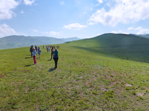 We set off along the ridge being chased by the shadows of clouds - Bashang Grasslands, Hebei Province, 2015/06