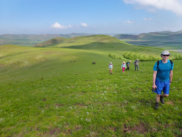 Some steep climbs saw the group stretch out a lot - Bashang Grasslands, Hebei Province, 2015/06