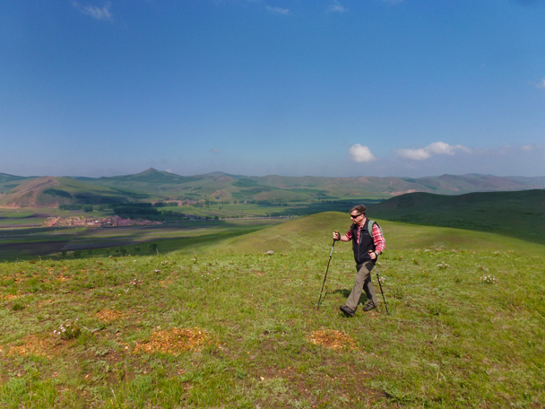 Hiking poles a wise choice for all those ups and downs - Bashang Grasslands, Hebei Province, 2015/06