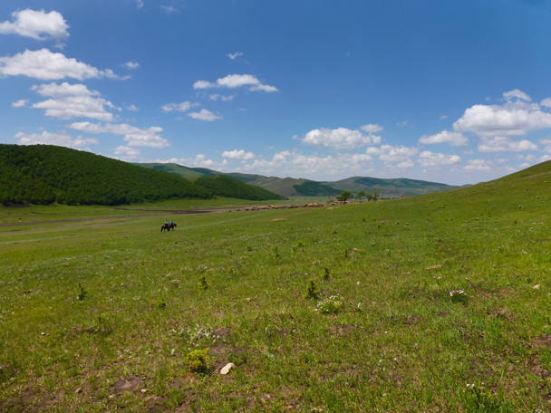 Two riders in the distance - Bashang Grasslands, Hebei Province, 2015/06