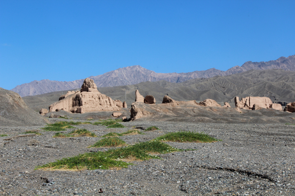 The remains of the temple at Subashi - Along the Silk Road from Korla to Kashgar, 2015/06