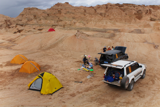 We camped a night in the desert - Along the Silk Road from Korla to Kashgar, 2015/06