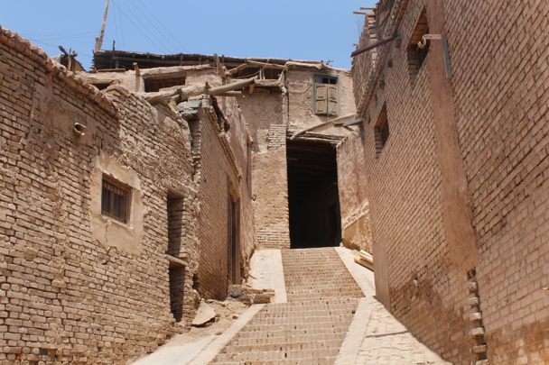 The old town in Kashgar - Along the Silk Road from Korla to Kashgar, 2015/06
