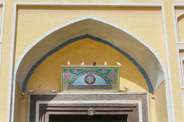 Doves above the entrance to Id Kar Mosque - Along the Silk Road from Korla to Kashgar, 2015/06