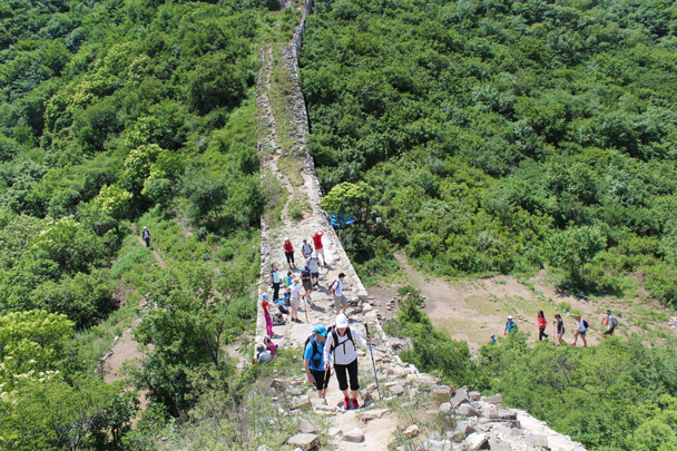 Up we go - a little challenging, with loose footing in many places - Middle Switchback Great Wall, 2015/06/07