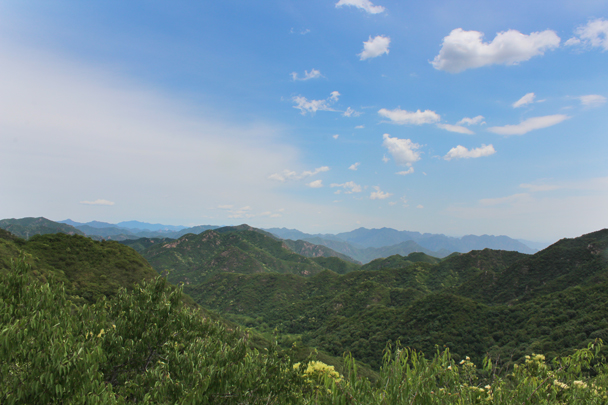 Stunning views in clear weather - Middle Switchback Great Wall, 2015/06/07