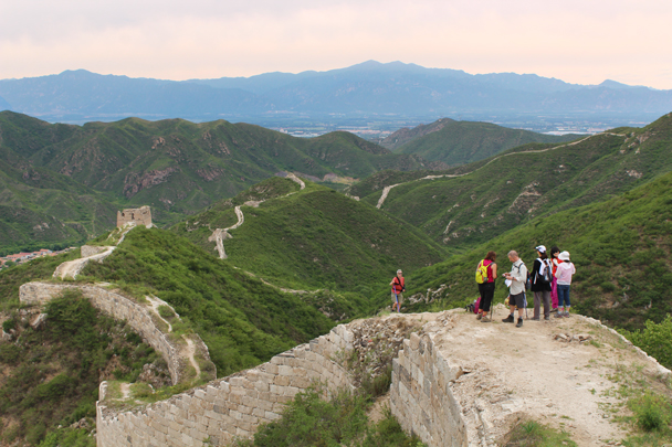 We continued a few more towers down, and finished the hike in a small village - Middle Switchback Great Wall, 2015/06/07