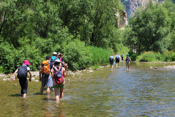 Savouring the cool water - White River hike, 2015/07/05