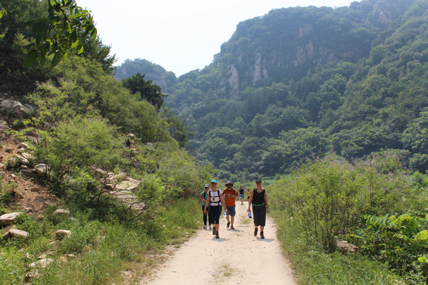 Hiking further up the gorge - Yunmeng Gorge hike and swim, 2015/07/12