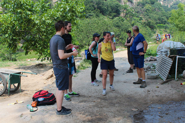 We stopped to cool down, too - Yunmeng Gorge hike and swim, 2015/07/12