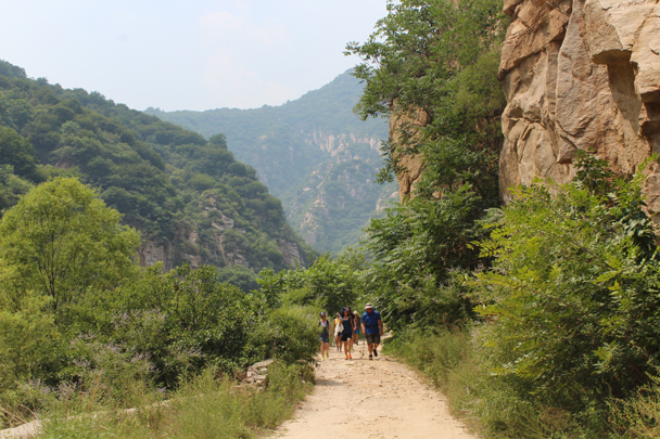 We hiked back the same way we came - Yunmeng Gorge hike and swim, 2015/07/12