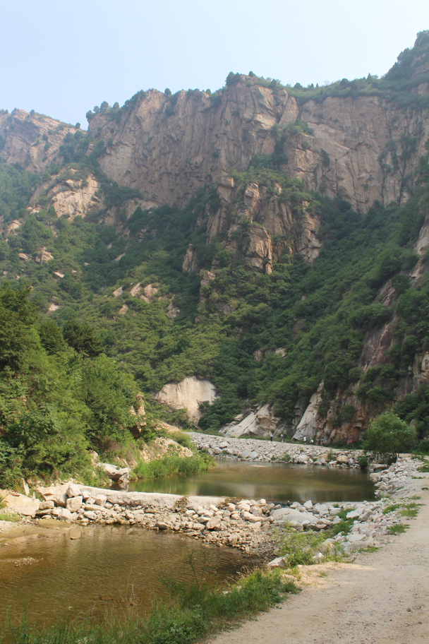 Last view of the gorge - Yunmeng Gorge hike and swim, 2015/07/12