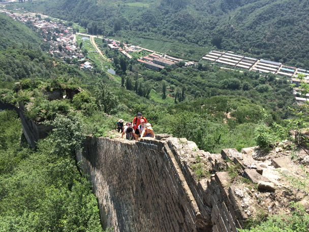 A steep section of the climb - Walled Village to the Little West Lake, 2015/08/08