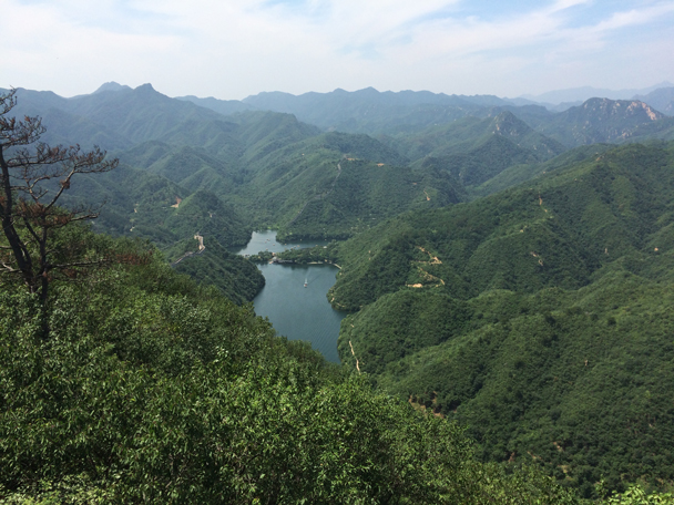 The Little West Lake reservoir - Walled Village to the Little West Lake, 2015/08/08