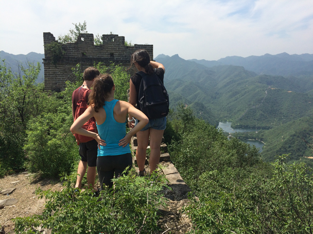 Good lookout point - Walled Village to the Little West Lake, 2015/08/08