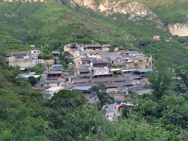 The whole Ming Village seen from the hills opposite - Ming Village overnight, 2015/08