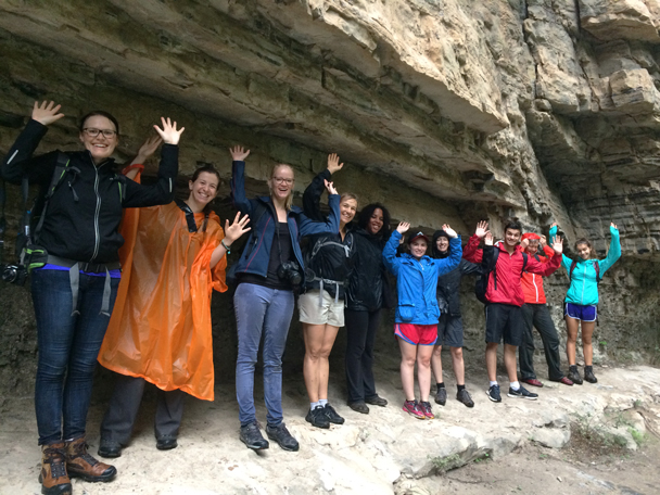 All wet, all smiles! - Ming Village overnight, 2015/08