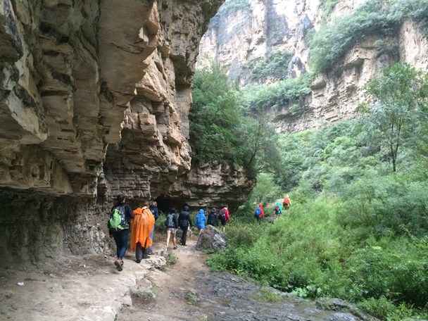 Hiking below the tall cliffs - Ming Village overnight, 2015/08