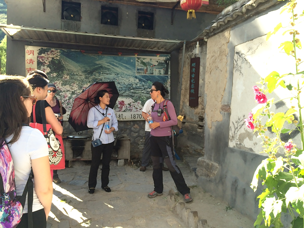 We hired an expert guide for a full tour of Ming Village. Jun translated - Ming Village overnight, 2015/08