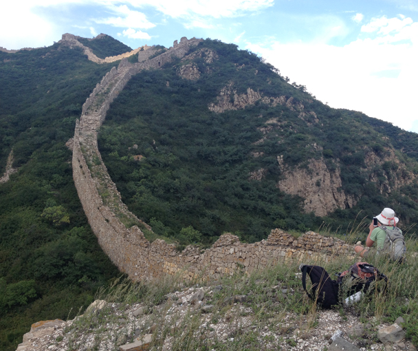 This line of Great Wall continues over the hills - Shuitou Village Loop hike, 2015/08/22