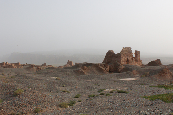 Part of the ruined city of Subashi - Along the Silk Road from Korla to Kashgar, 2015/09