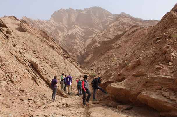 Hiking near the Dakziliya Canyon - Along the Silk Road from Korla to Kashgar, 2015/09