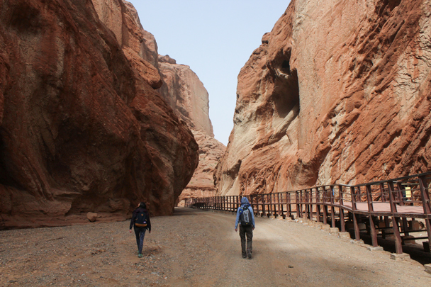 We preferred the side trail to the boardwalk - Along the Silk Road from Korla to Kashgar, 2015/09