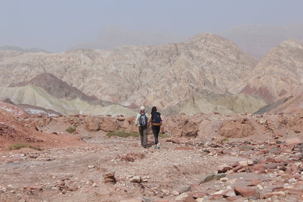We did another short hike near the Kizil Caves - Along the Silk Road from Korla to Kashgar, 2015/09