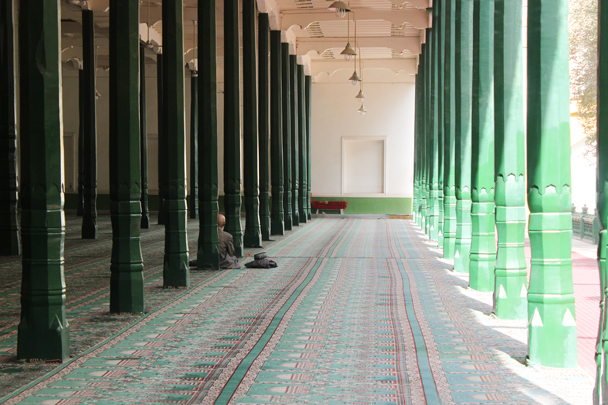 Inside a mosque - Along the Silk Road from Korla to Kashgar, 2015/09