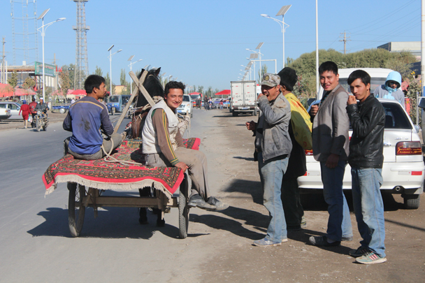 Donkey bus - Along the Silk Road from Korla to Kashgar, 2015/09