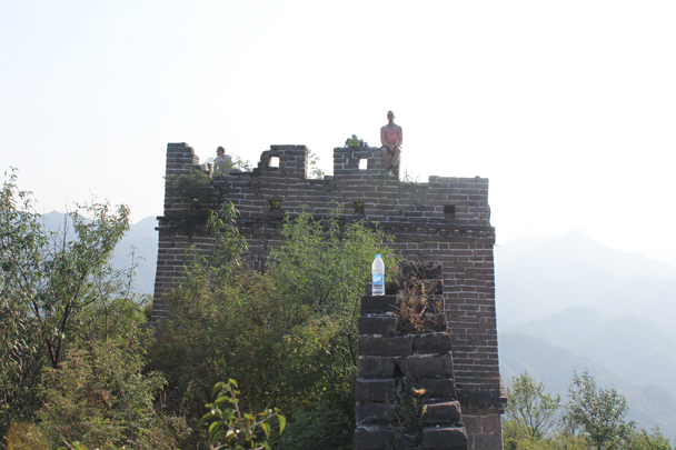 On the other side of the park, we climbed up to another stretch of Great Wall - High Rise hike to the Walled Village, 2015/09/26