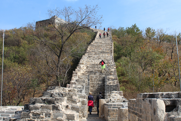 On the wall at Longquanyu, a partially restored section - Longquanyu and Little West Lake Great Wall, 2015/10/24